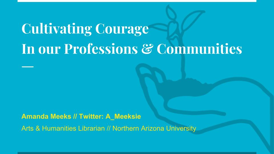 Cultivating Courage In our Professions & Communities